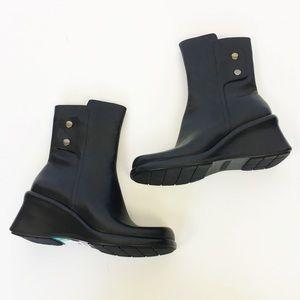 NWT Enzo Angiolini black leather Rowan boot 8
